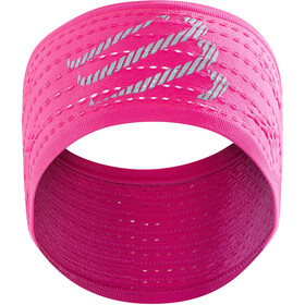 Compressport On/Off Hoofdband, fluo pink